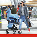 2017 Детские Коляски Высокого Пейзаж Противоударный Детские Тележки Портативный 4 колеса Складной Коляска Может сидеть Лежа Коляски для новорожденных C01