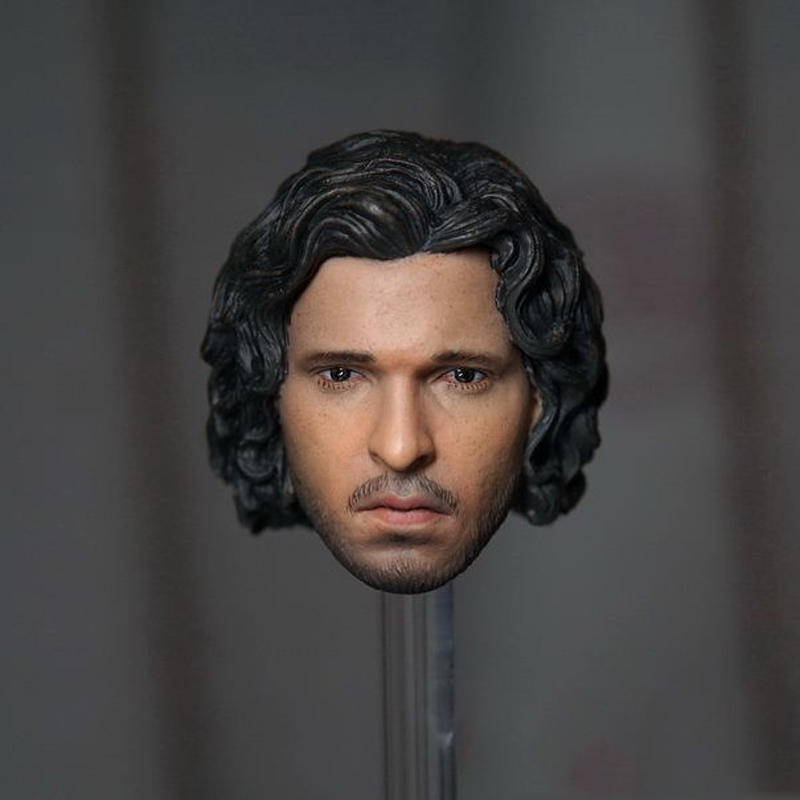 1/6 Scale Game of Thrones Jon Snow Head Sculpt With Curly Long Hair Model Toys For 12'' Male Action Figure Collections Freeshipp popular 16 31 1 6 scale male head sculpt model toys for 12 male action figure body accessory collections freeshipping