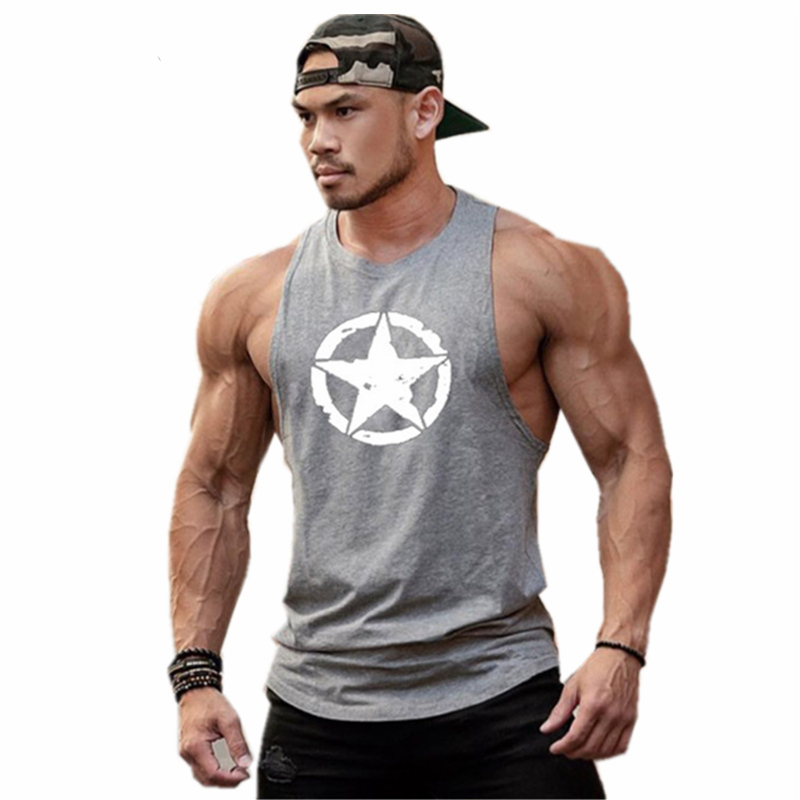 Gym deltoid New fashion cotton sleeveless shirts   tank     top   men Fitness shirt singlet Bodybuilding workout gym vest fitness men