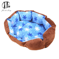 2016 Suede Pet Kennel Pet Sofa No Pilling Soft Does not collapse Sofa For Dog Plush Cozy Nest Dog House Pad Warm Pet House