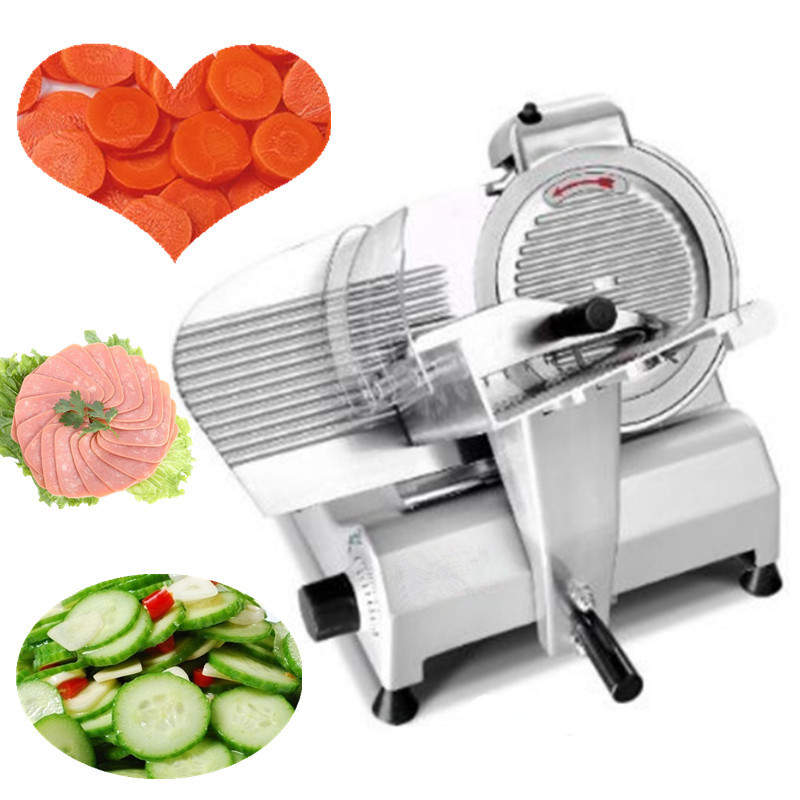 Desktop meat roll slicer machine household electric move toast bread ham sausage slicing cutter 220V