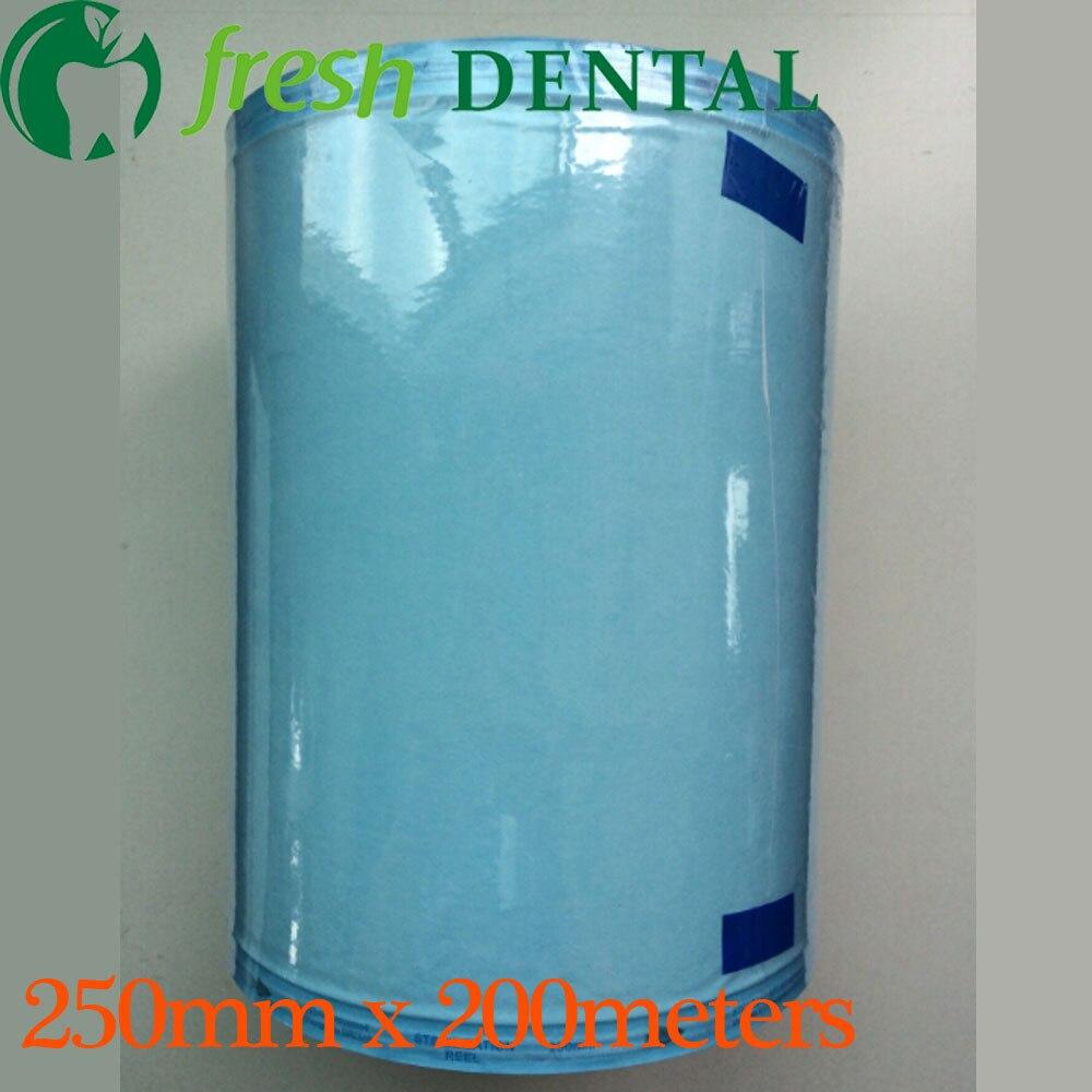 Sacs dentaires de stérilisation de désinfection de 25 cm * 200 mètres roulent des sacs stériles de stérilisation médicale petit pain dentaire oral SL426