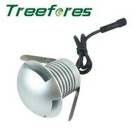 3 w 12 v 24 v ip67 cree led downlight lâmpada + 600 w ip67 meanwell fonte de alimentação ao ar livre enterrado iluminação ponto