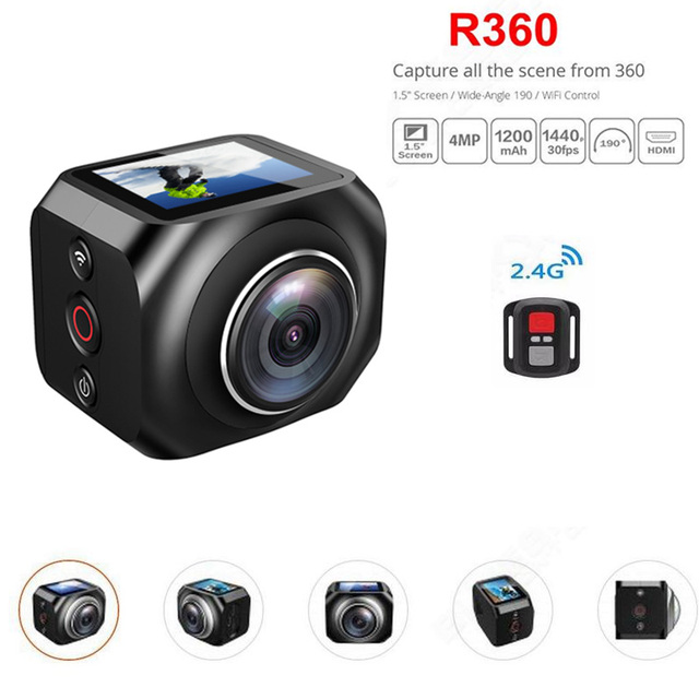 Action camera R360 WiFi Remote Control video 190 degree ultra wide viewing lens 1.5'' TFT display hero style sport camera