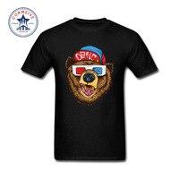 2017 Fashion Nieuwe Gift Tee beer afbeelding patroon Katoenen T-shirt voor mannen