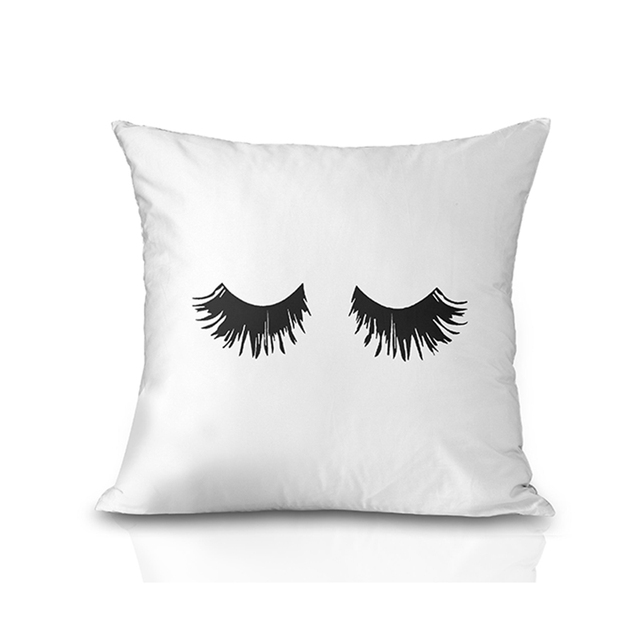 Hotel Home Decor Funny Eyelash Cushions Covers Lips Decorative Throw Pillow  Cover Lashes Pillows Cases 45cm