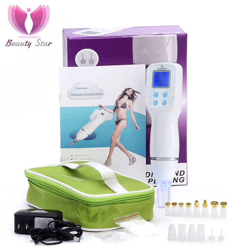 Beauty Star Diamond Dermabrasion Blackhead Removal Vacuum Suction Cleaner Acne Pore Peeling Face Cleaning Facial Massage Machine