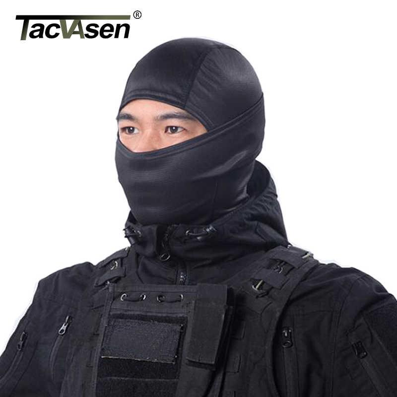 TACVASEN Multicam Camouflage Taktische Haube Maske Schnell Trocken Jagd Full Face Maske Paintball War Spiel Helm Armee Military Gesicht Maske