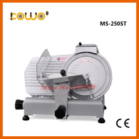 high efficiency industrial semi automatic electric kitchen equipment frozen meat slicer food cutting machine with 250mm blade