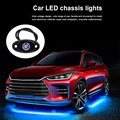 4pcs 5color 9W LED Car Interior Lighting Kit Underbody Trail Rig Lamp Car Styling Waterproof Interior Decoration Atmosphere Lamp