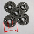 Base Diameter:7CM Cast iron Industrial pipes flange wall base pipe support base (-DN20-3/4''Pipe  Hole ID:25MM )