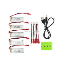 3.7V 600mAh Drone Li-polymer Battery 701855 5 in 1 Charger SET For UDI RC u817 u817a u817c u818a Syma s032 WLtoys V929 Aircraft