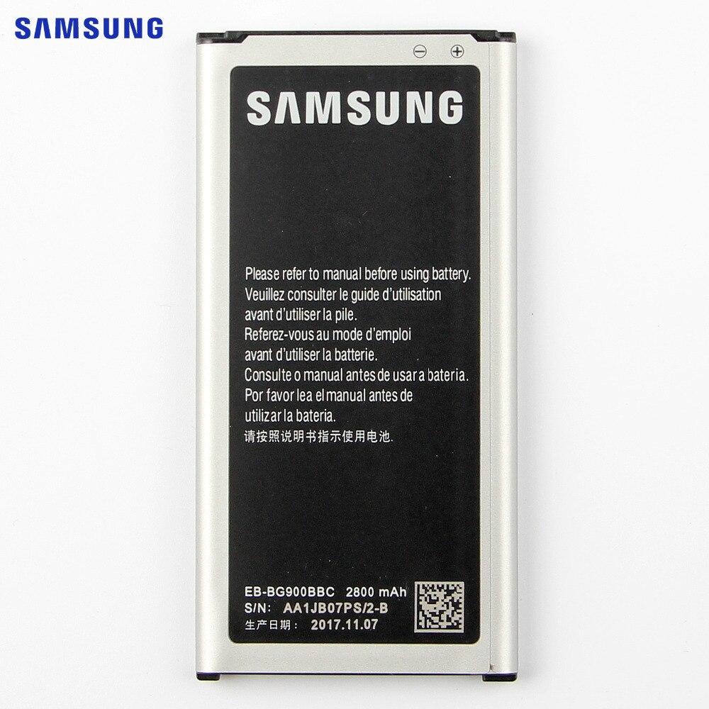 SAMSUNG Originele Batterij EB-BG900BBU EB-BG900BBC Voor Samsung S5 G900S G900F G900M G9008V 9006 V 9008 W 9006 W G900FD 2800mA NFC