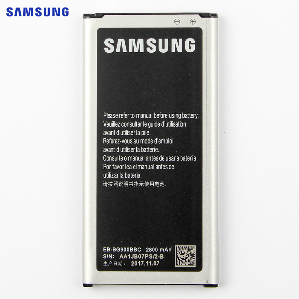 SAMSUNG batería Original EB-BG900BBU EB-BG900BBC para Samsung S5 G900S G900F G900M G9008V 9006 V 9008 W 9006 W G900FD 2800mA NFC