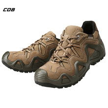 CQB Outdoor Sports Hiking Tactical Military Shoes Men Mountain Low Trekking Shoes Wear-resistant for Walking Hunting Climbing
