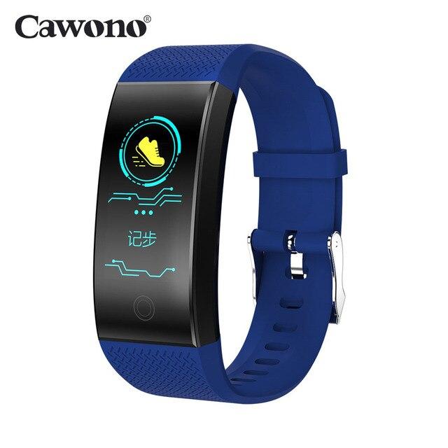 Cawono CW21 Smart Bracelet Heart Rate Blood Pressure Monitor Activity Tracker Bluetooth Waterproof Smart Wristband PK mi 3