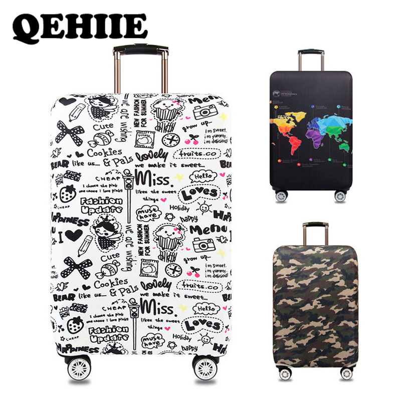 Luggage Cover Camouflage Suitcase Protective Sleeve Elastic Dust Cover Trolley Suitcase Protective Cover Travel Accessories