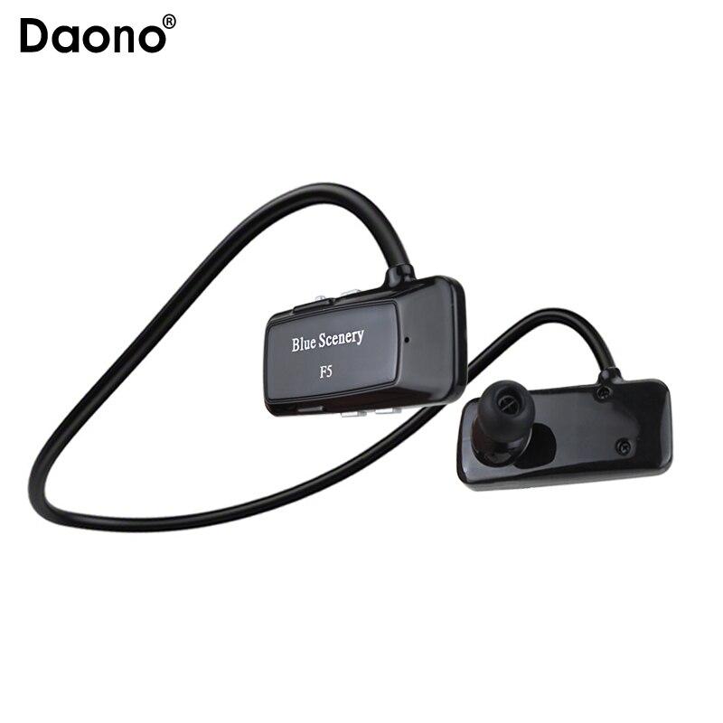 Daono F5 Wireless Headphones Bluetooth Headset Sport Music Stereo Earphones+Micro SD Card Slot+FM Radio For iphone Huawei XiaoMi