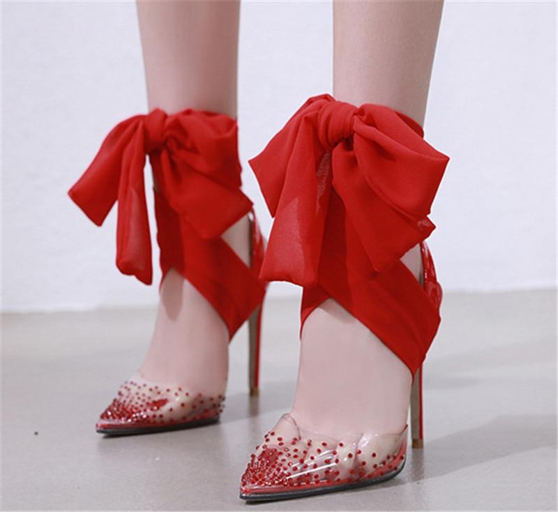 2018 Lujo Cristal Pums Moda Mujer Arco Partybow Liangpian Zapatos 1 De  Tacones 3 2 RqXnZ1qH bf362e99d00f