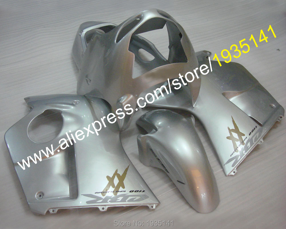 Hot Sales,ABS Plastic kit For Honda CBR1100XX 96-07 CBR 1100 XX 1996-2007 whole silver motorcycle Fairing (Injection molding) hot sales cbr 1100 xx 96 07 body kit for honda cbr1100xx 1100 blackbird 1996 2007 blue motorcycle fairings injection molding