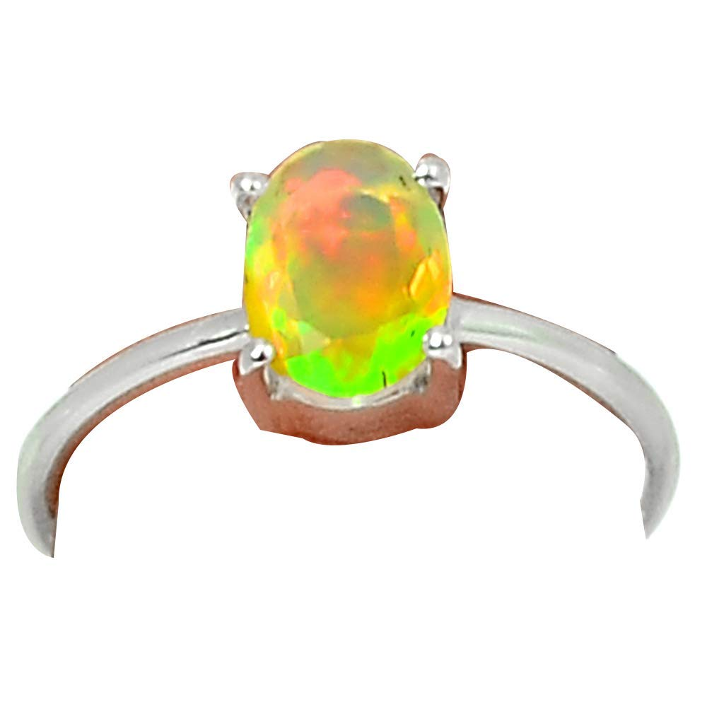 цена на Genuine FACETED ETHIOPIAN OPAL Ring 925 Sterling Silver Jewelry,USA Size :7.25, MHBAR3816