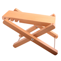 Foldable Wood Guitar Pedal Guitar Foot Rest Stool 3 Adjustable Height Levels Solid Wood Guitar Pedal FA-80W