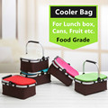 Aluminum Alloy Foldable Cooler Bag Basket Thermal Food Box Cans Fruit Storage Picnic Lunch Insulation Tote Cool Bag Package