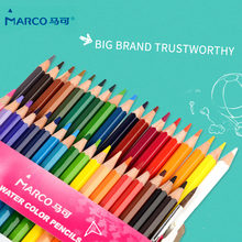 Marco Wooden Colored Pencils 12/24/36 Colors Watercolor Color Pencil For Kid Sketch Set Soluble Pastel Drawing Stationery