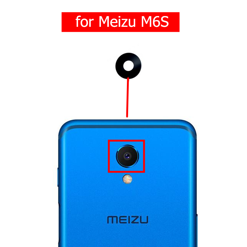 Glass-Lens Replacement Camera Back Repair-Spare-Parts Meizu M6s 2pcs for Rear with Glue