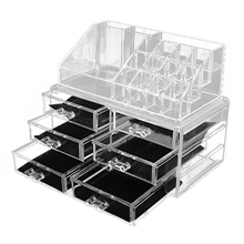 Makeup Rack, Cosmetic Organizer, Cosmetic Storage, Jewelry Box, Exhibition Box, Transparent Color