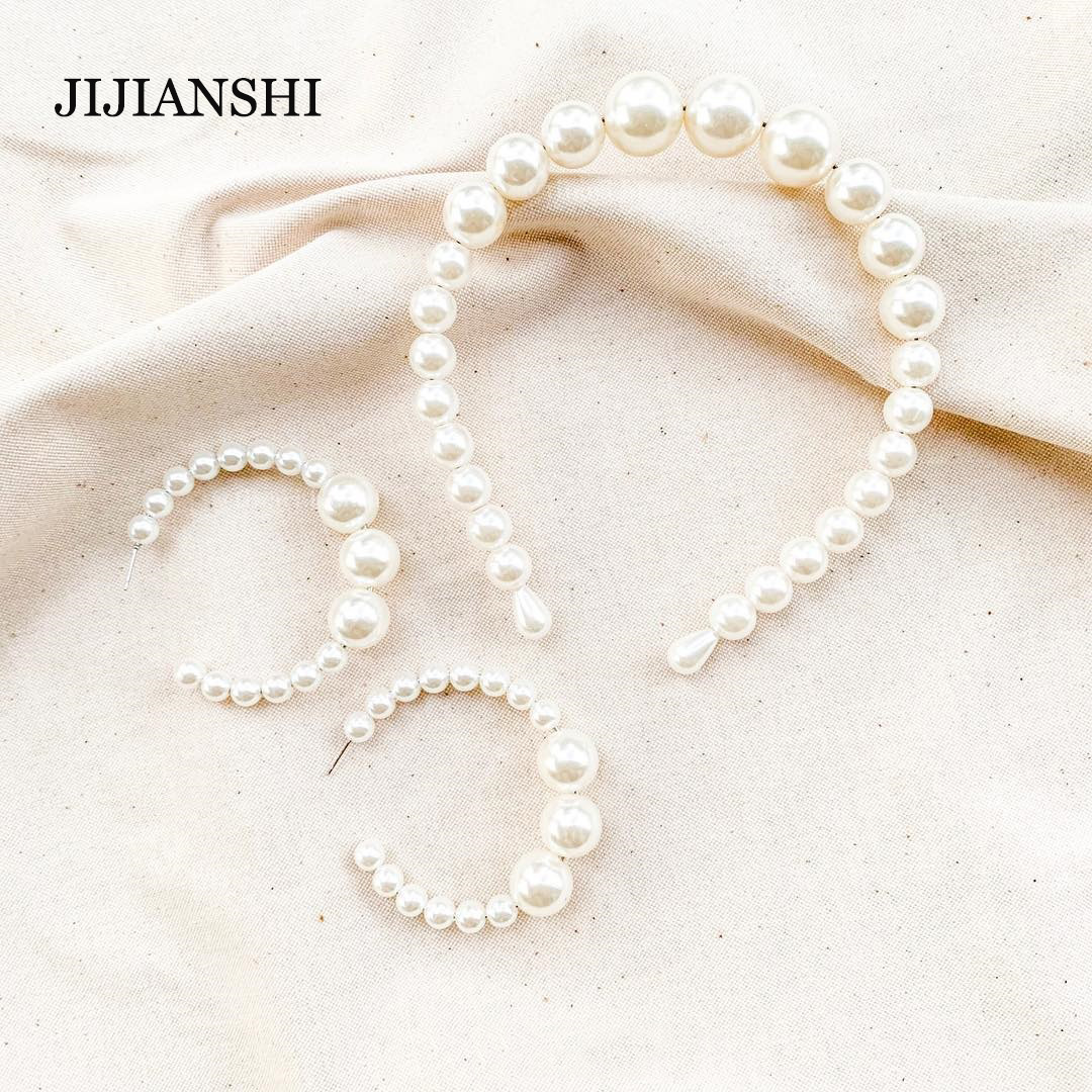 Trendy Big Pearl Headband for Women Elegant White Pearl Wedding Party Hair Accessories Bridal Headwear Hairband Head Hoop-in Women's Hair Accessories from Apparel Accessories on Aliexpress.com   Alibaba Group