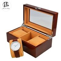 Watch Box for Men 3 5 12 Slots Wood Organizer Storage Case Jewelry Watches Display Holder Boasts Glass Window & Flannel Pillow