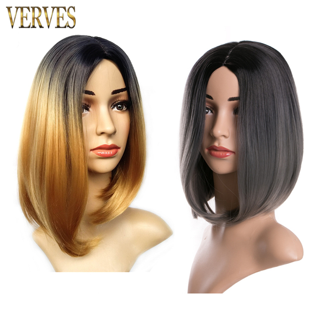 ombre synthetic wigs VERVES bob wigs 6 colors synthetic sexy female short haircut wigs best natural looking women wigs cosplay