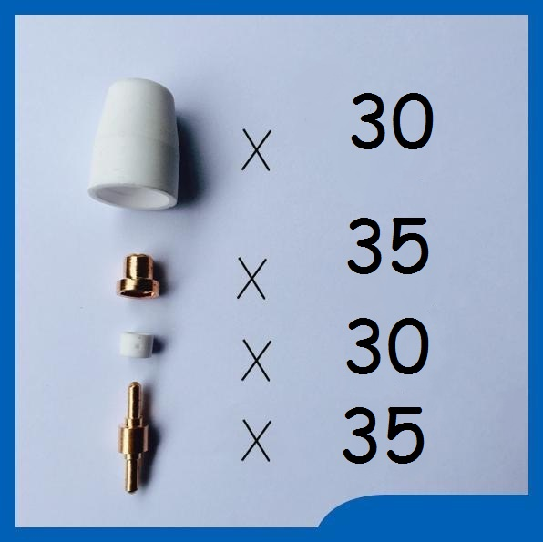 Free shipping 130PCS welding accessories Plasma Electrode Tip Nozzle shield cup Ring PT-31 LG-40 welding consumable Plasma torch 130pcs pt31 lgk 40 plasma torch kits nickel plated extented nozzle tip electrode