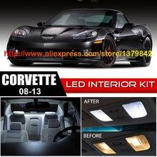 Free Shipping 10Pcs/Lot car-styling Xenon White Canbus Package Kit LED Interior Lights For 08-13 Chevy Corvette недорго, оригинальная цена