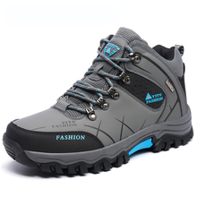 Men Fur Winter Snow Boots Autumn Non-Slip Men Climbing Outdoor Mid Hiking Mountain Sport Trekking Shoes Waterproof Men Footwear
