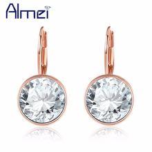 Almei Роскошные серьги гвоздики серебряный цвет Кристалл для