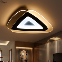 Modern Novelty Foyer Bedroom Irregular Thin Acrylic Ceiling Light Thick Metal Dimmable Triangle Led Ceiling Lamp