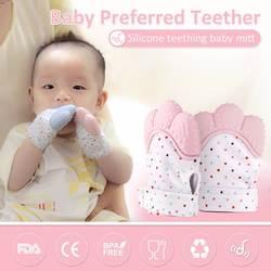 2019 новорожденных детские перчатки силиконовые детские Mitt перчатка для режущихся зубов прорезывания зубов перчатки конфетная обертка звук