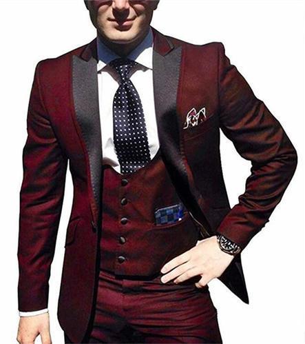 Черные смокинги жениха на одной пуговице с узором пейсли, шаль с отворотом для жениха, лучшие мужские костюмы, мужские свадебные костюмы(пиджак+ брюки+ жилет+ галстук - Цвет: 20
