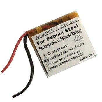 P140116 Battery for Pebble Steel Smartwatch Smart Watch Rechargeable Batterie Pack Li-Po Lithium Polymer 3.7V 120mAh Bateria posthuman for smart watch psp led lamp rc 1 2 4x 3 7v volt li po ion lipo rechargeable batteries 602030 lithium polymer battery