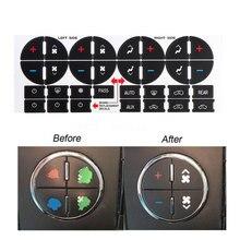 1 шт. AC Dash Кнопка Ремонт наклейки для GMC ТРАНСПОРТНЫХ СРЕДСТВ-Fix разрушенный выцветший A/C центр управления автомобиля стиль