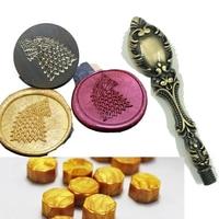 Game Of Thrones Wax Seal Metal Head With Handle 100pcs Wax DIY Scrapbooking Wax Stamp Copper