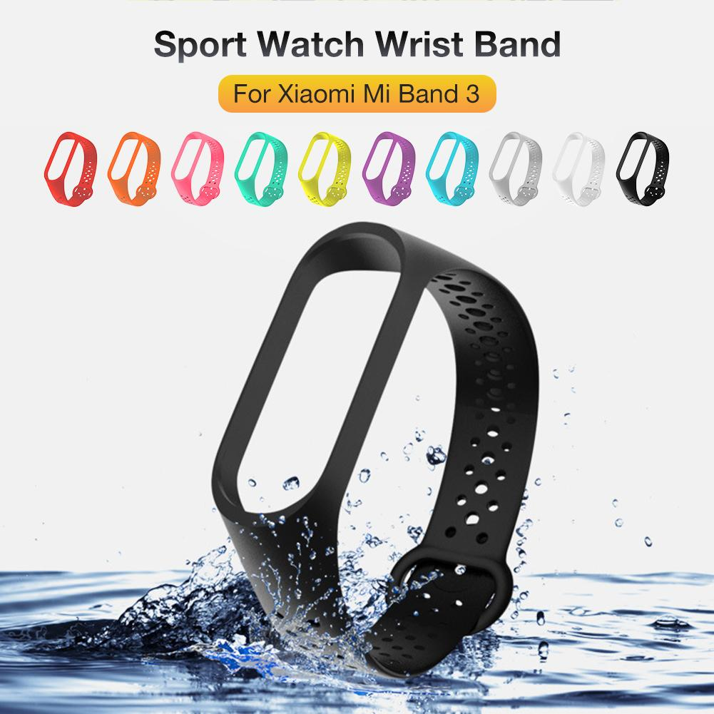 TPU Smart Watch Band Wristband Colorful Strap Wristband Replacement Band Sport Watch Wrist Band For Xiaomi Mi Band 3 Bracelet