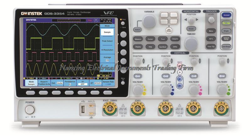 Arrivée rapide TaiWan Gwinstek Oscilloscope numérique GDS-3154 DSO, 5GSa/s, 8 pouces 800*600 LCD 150 MHz, 4 canaux, DSO