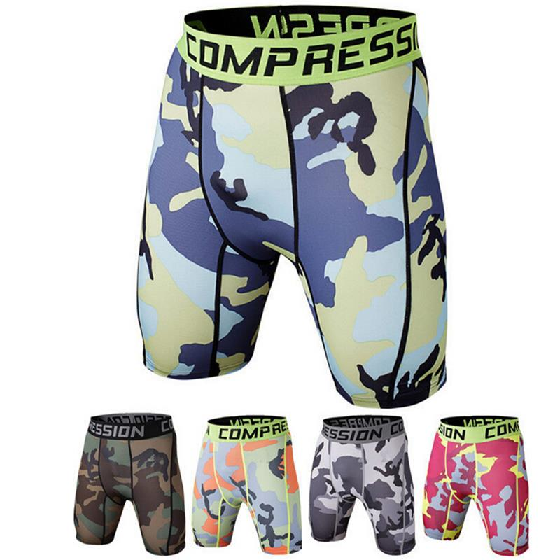 Beach Shorts Men Compression Shorts Summer Python Bermuda Shorts Gyms Fitness Cossfit Bodybuilding Tights Camo Brand Shorts Mma