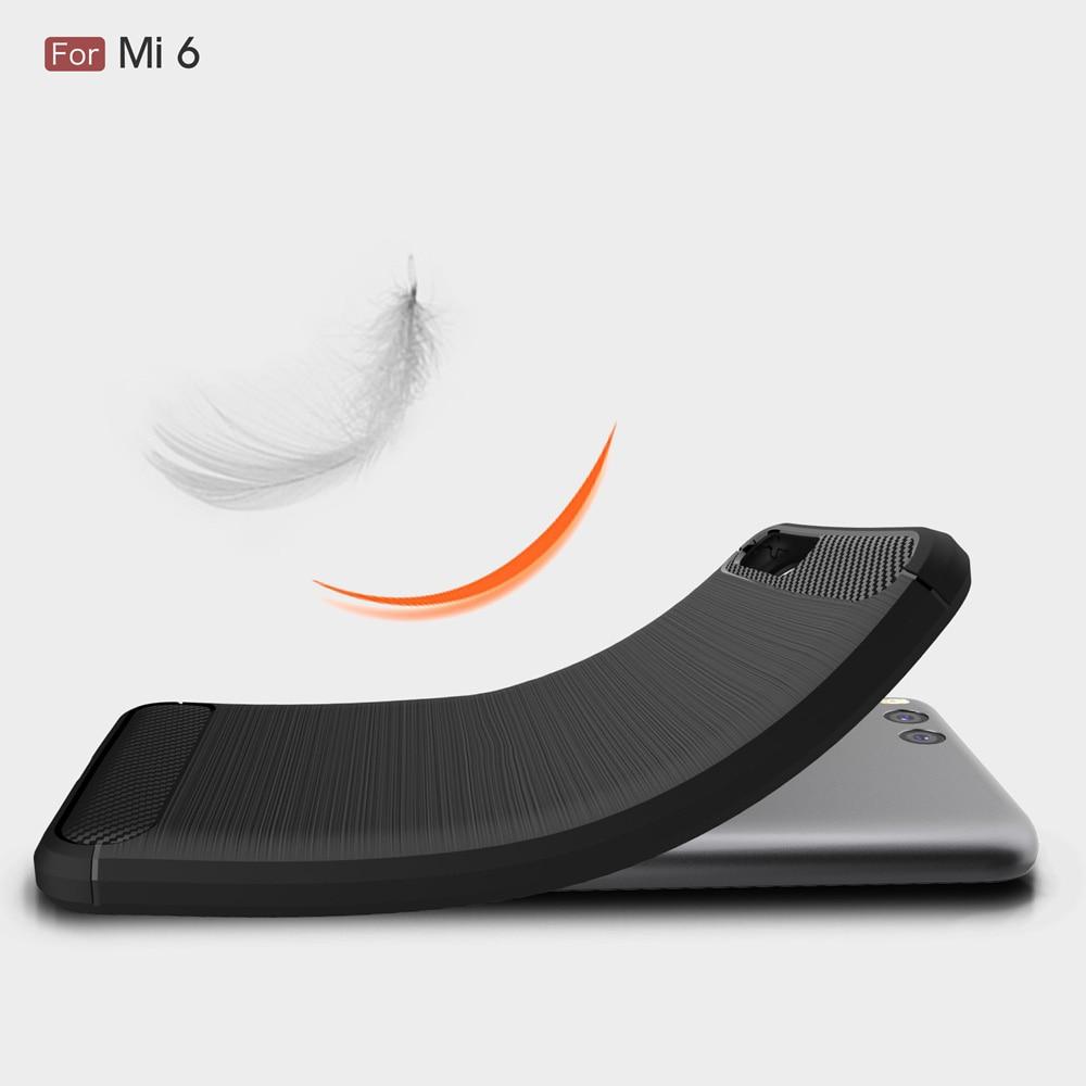 Xiaomi mi6 mi 6 arxa örtük üçün orijinal Carbon Fiber Soft TPU - Cib telefonu aksesuarları və hissələri - Fotoqrafiya 6