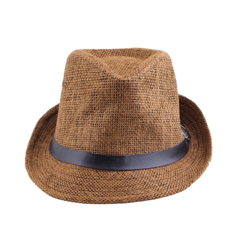 Hot Unisex Women Men Fashion Summer Casual Trendy Beach Sun Straw Jazz Hat Cowboy hat Gangster Cap