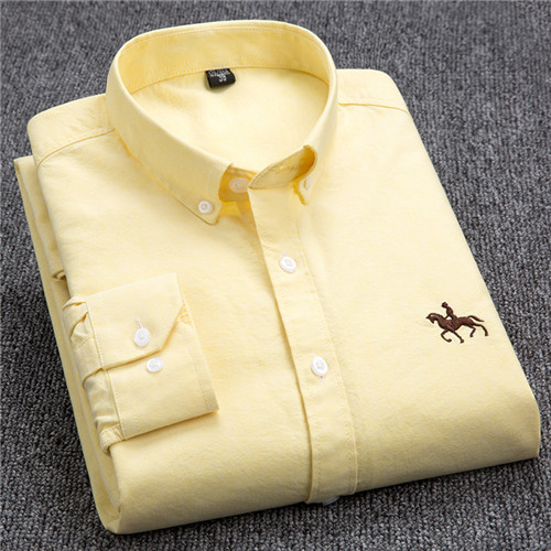 S-6XL Plus size New  OXFORD FABRIC 100% COTTON excellent comfortable slim fit button collar business men casual shirts tops 11