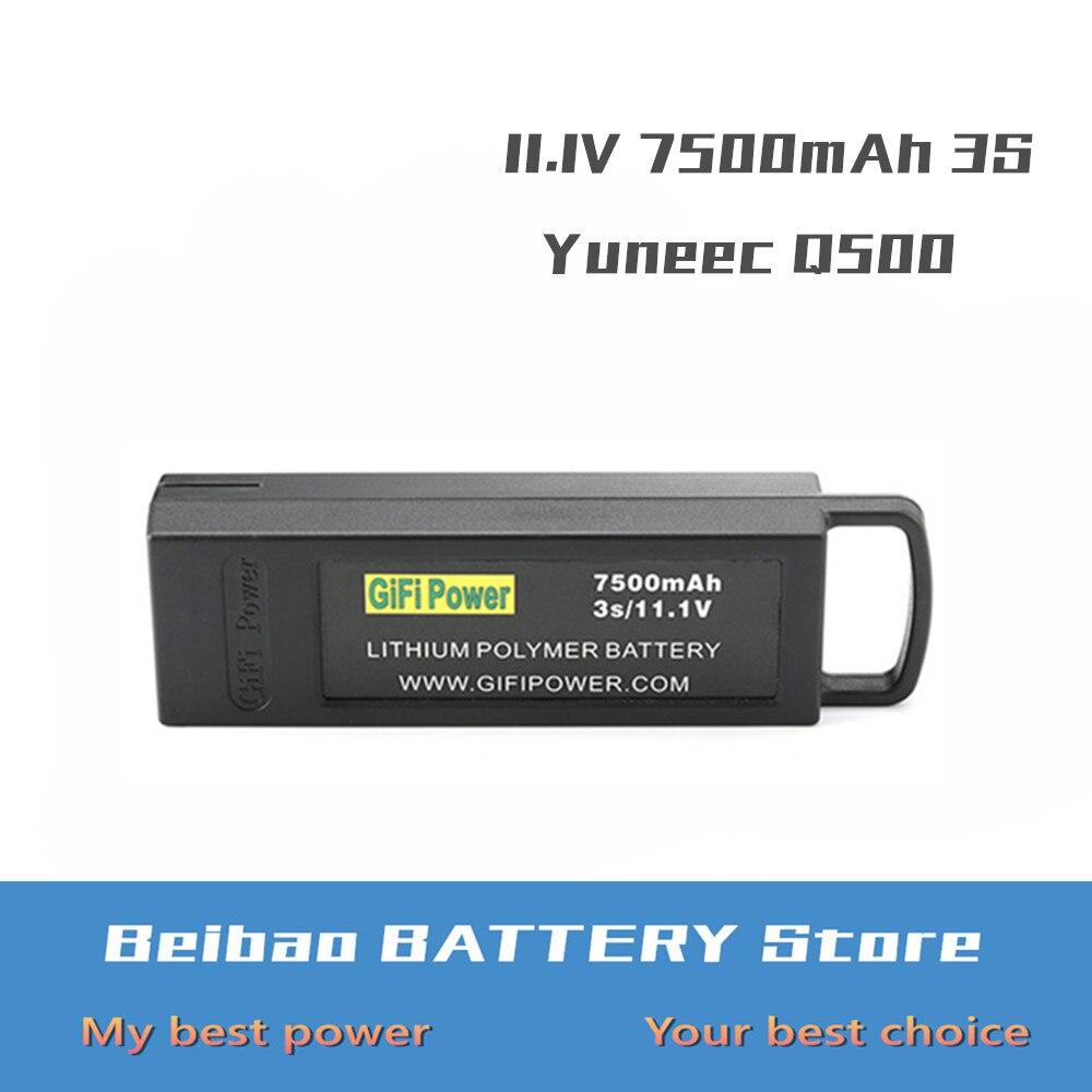 Batterie LiPo 7500mAh 3S 11.1V pour Yuneec Q500 Q500 + 4K PRO pour Drone RC typhon quadrirotor Lithium polymère